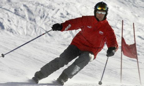 Michael Schumacher skiing