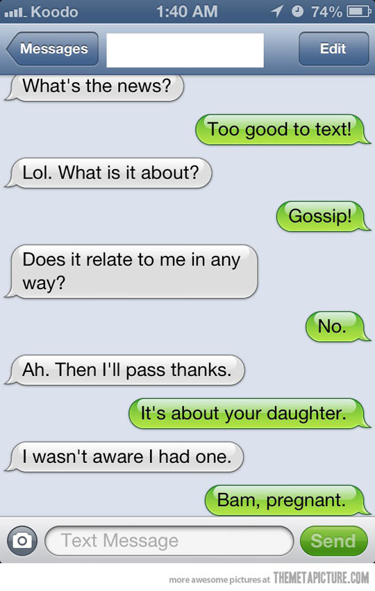 Image of: Ever Sent 7 Telling Your Parents Youre Having Child Bam Pregnant Funny Text Fail Sarcasm Collection Of Funny Text Fails That Will Crack You Up