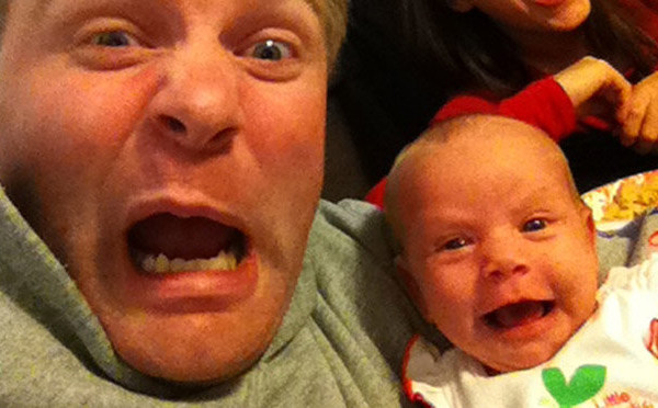 best selfies of 2013 - this awesome dad