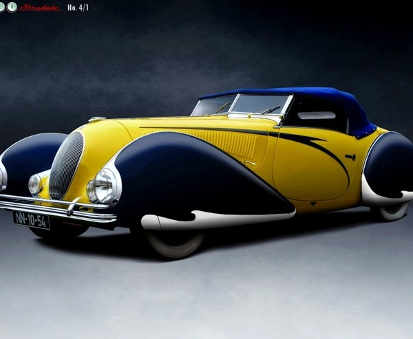 Talbot-Lago T-150 C LS Cabriolet Torpedo by Figoni et Falaschi, 1938 - cars of the 30's