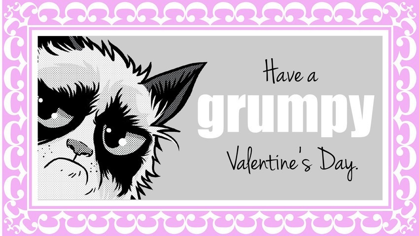 Grumpy Cat Valentine Love Cards For That Special Someone – Cat Valentine Card