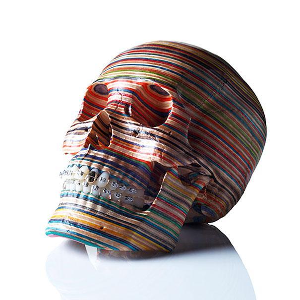 skateboard sculptures