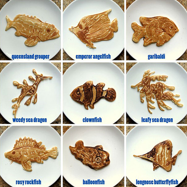 Dad Creates Educational Pancakes For His Kids