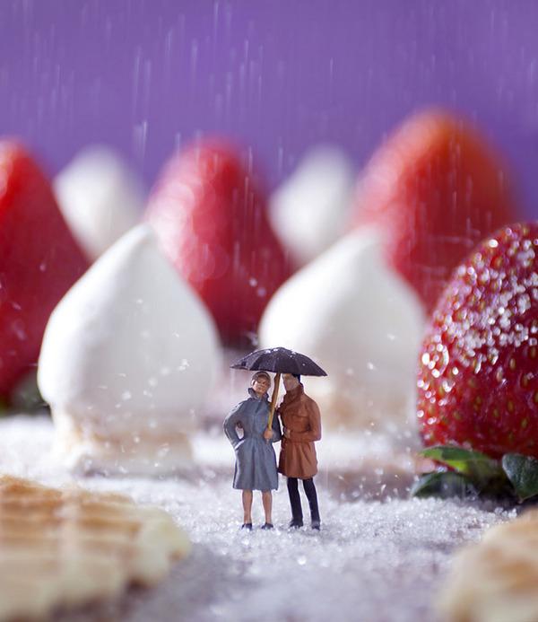 Minimize Food Miniature Diorama By William Kass.