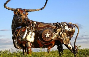 The incredible scrap metal welded beasts of sculptor Jo