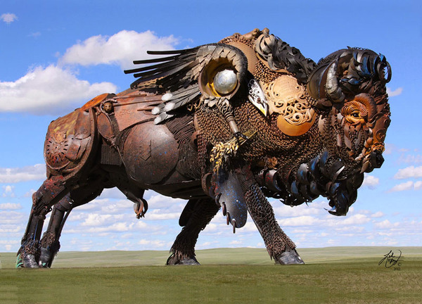 The incredible scrap metal welded beasts of sculptor Jo