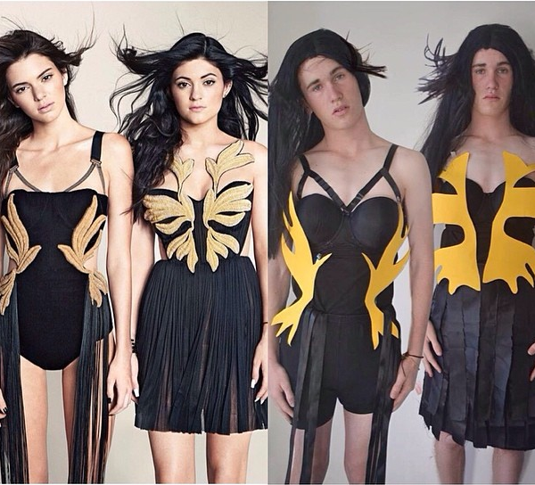 boy dressing up as Katy Perry