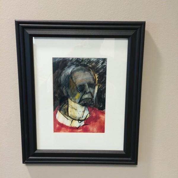 Alzheimer artist's self portrait over 8 years