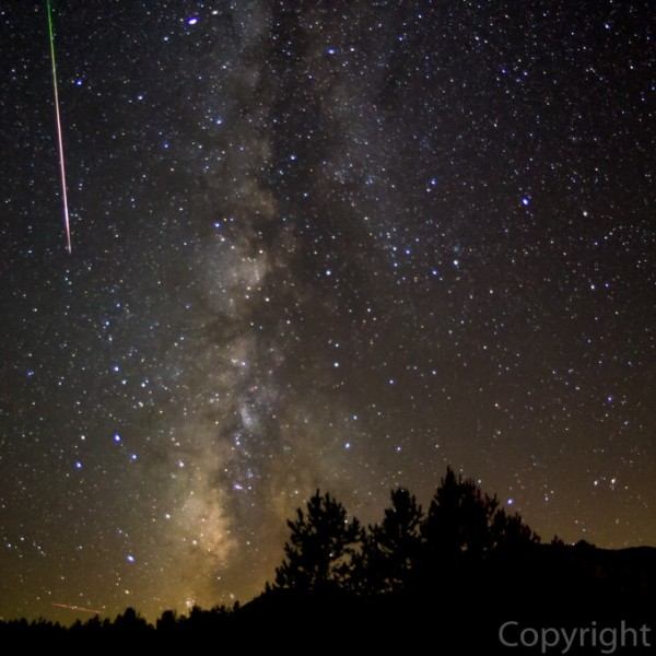 Perseid meteor shower