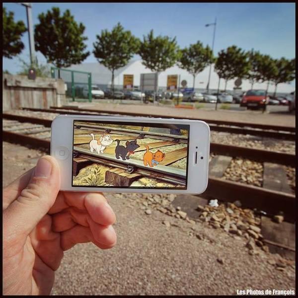 ARTIST INCORPORATES ICONIC SCENES INTO REAL LIFE.