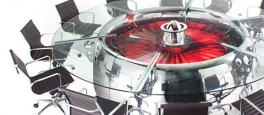 amazing table designs - jet engine