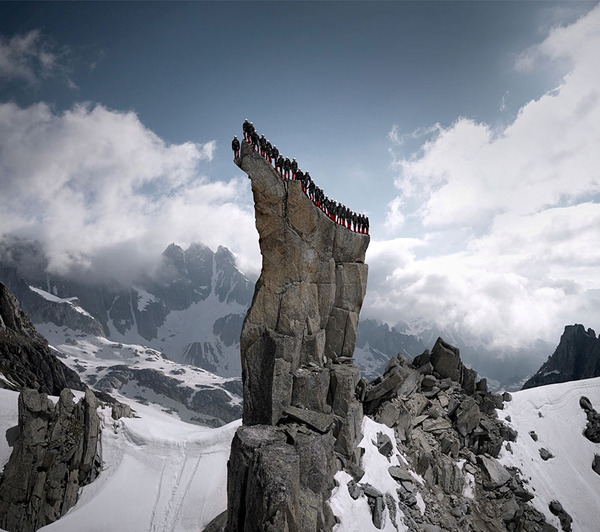 Hundreds Of Mountaineers Climb The Alps For Epic Photoshoot