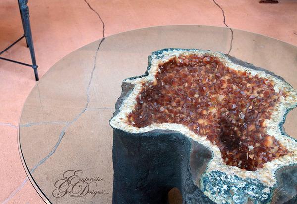 amazing table designs - purple stones - different view