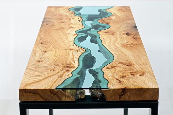 amazing table designs - fake river design