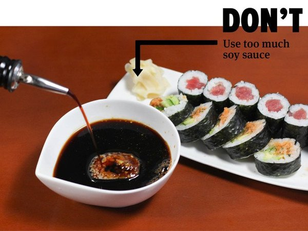 do's and don'ts of sushi