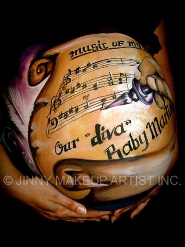 cute pregnant belly drawings