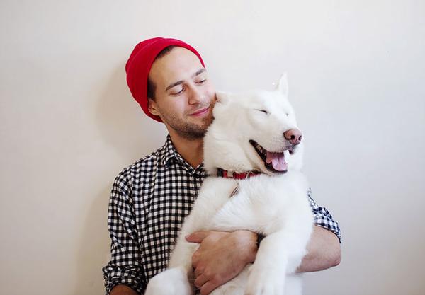 john stortz and his dog