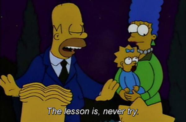 simpsons life advice
