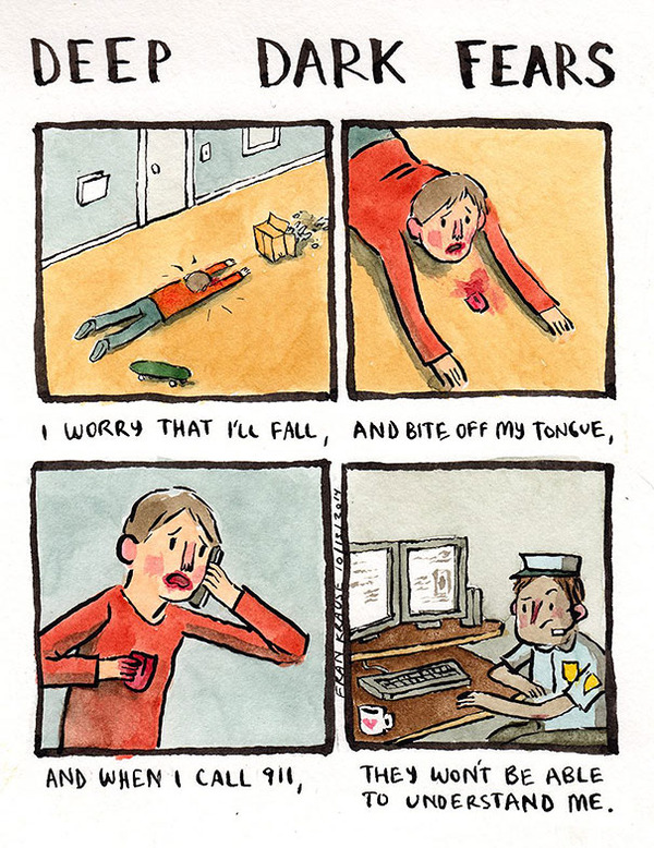 People's Deepest And Darkest Fears as Comics