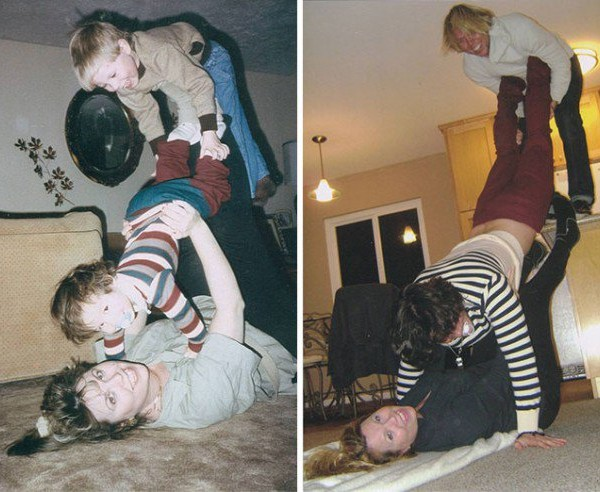 old pictures and their remake of today