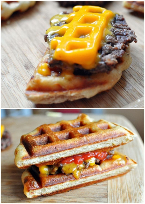 delicious waffle food
