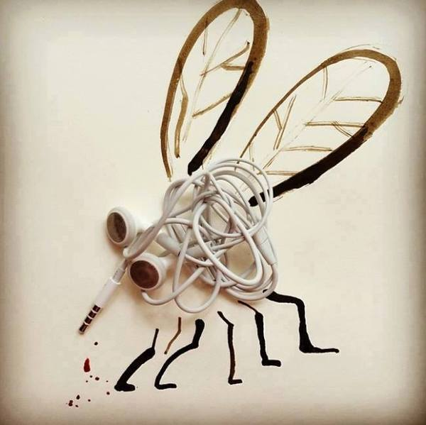 illustrations made of everyday items