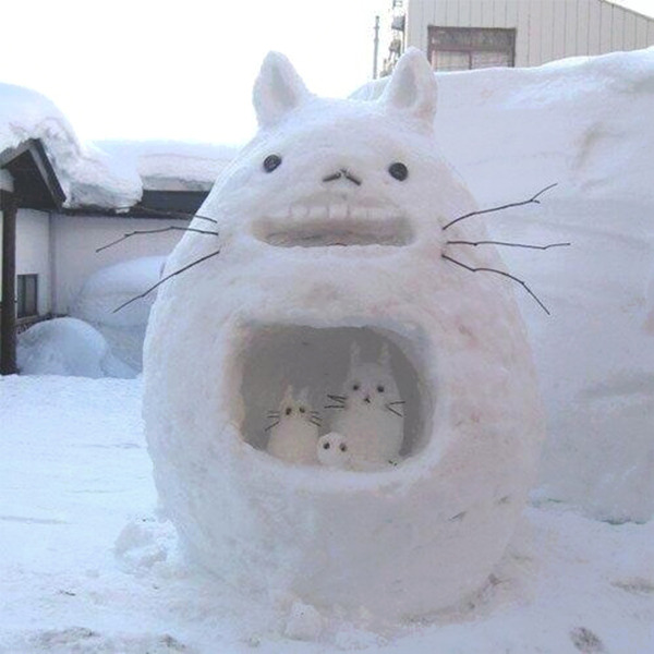 awesome snow sculptures