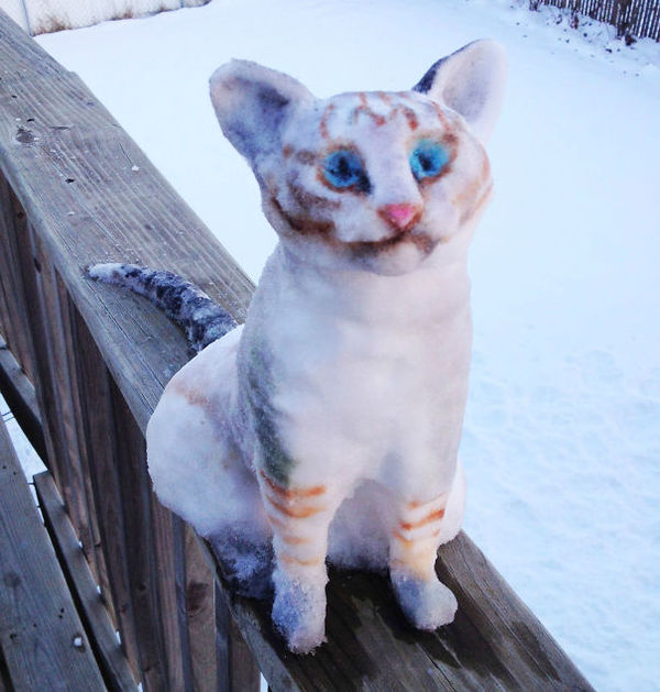 funny snow sculptures