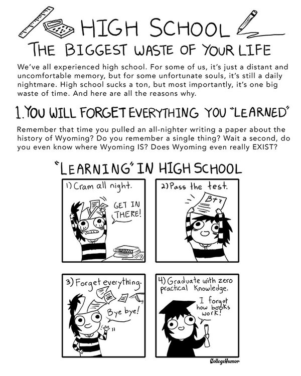 why school is a waste of time