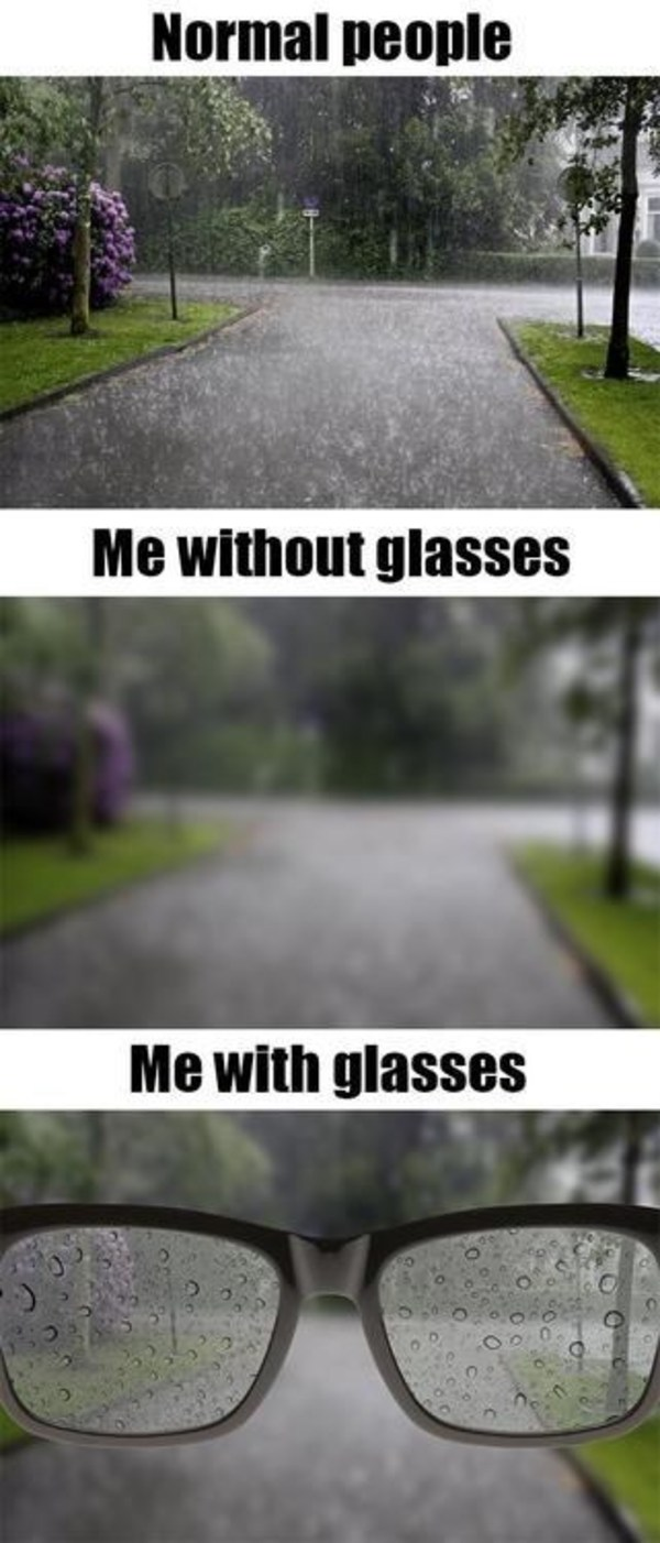 people with glasses problems