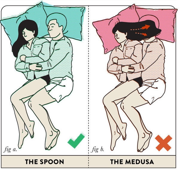 10 best sleeping positions for couples