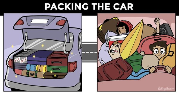 road trip reality vs expectations