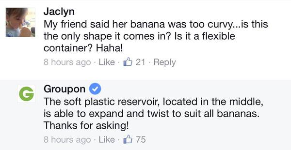groupon banana comments