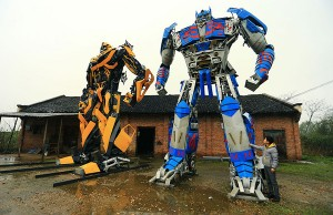 transformers from recycled car parts