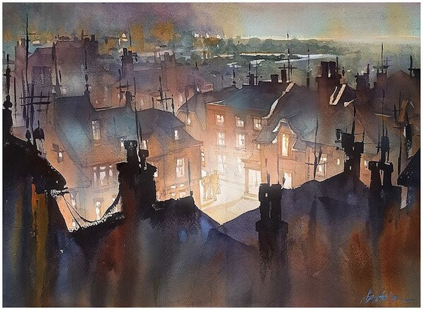 Thomas W Schaller water color paintings2