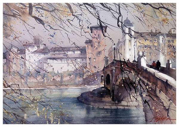 Thomas W Schaller water color paintings