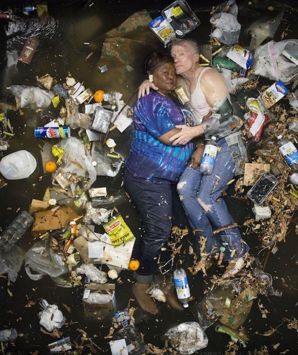 people lying in waste
