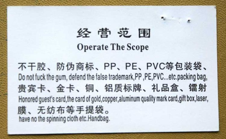 funny Chinese translations7