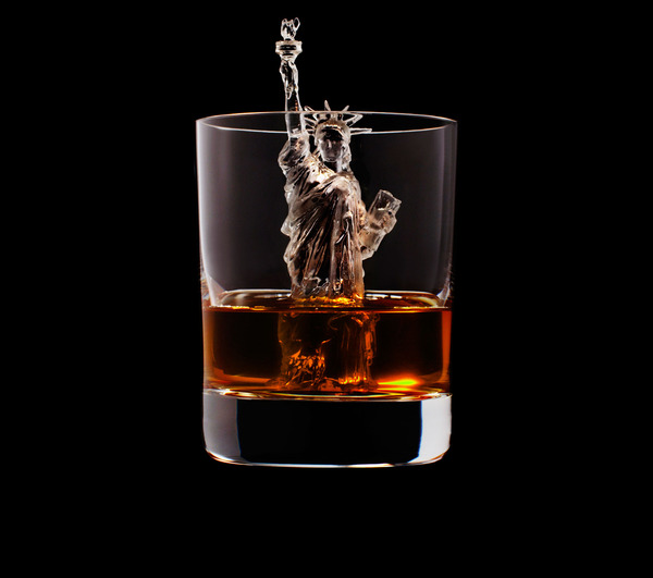 carved ice cubes