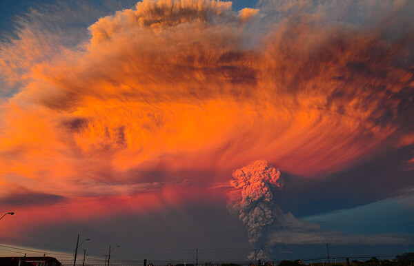 photos of volcano eruption
