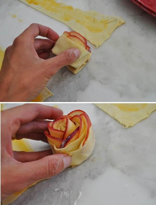 PUFF PASTRY APPLE ROSETTES Recipe