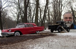 miniature scenes shot with model cars