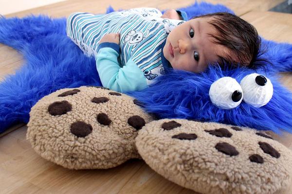 cookie monster rug