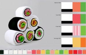 sushi bath towel designs