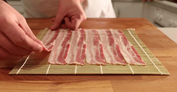 awesome bacon sushi