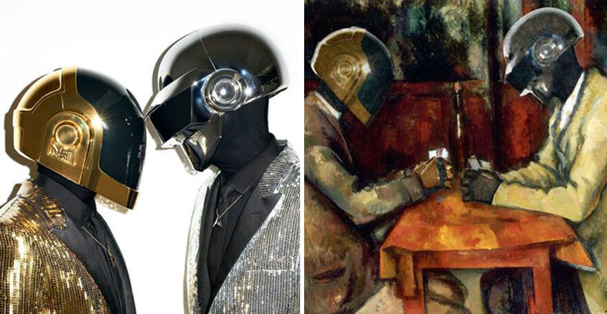 celebrities inside famous paintings 16