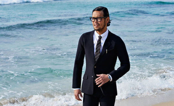wet-suit looks like a business suit
