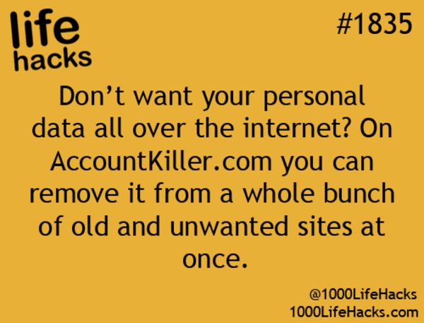 more hacks for life