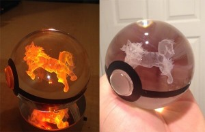 crystal engraved pokeballs