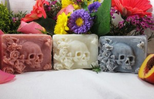 awesome skull shape soap